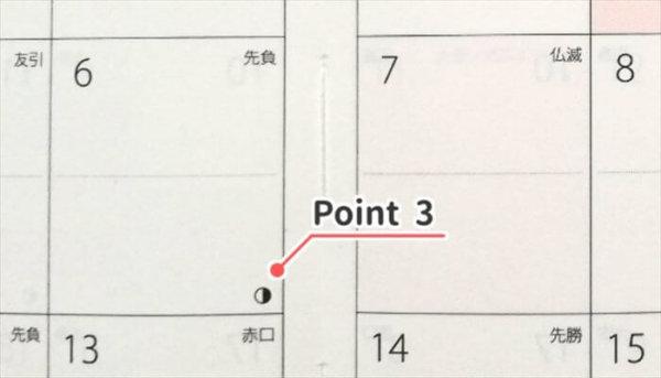 月間カレンダーのポイント3