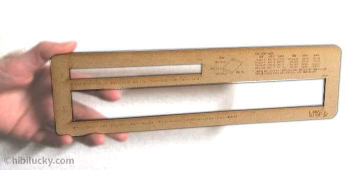 つかめるサイズの厚さ測定定規